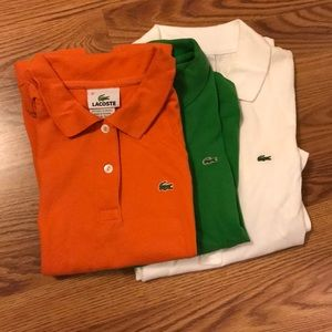 Lacoste polos and dress